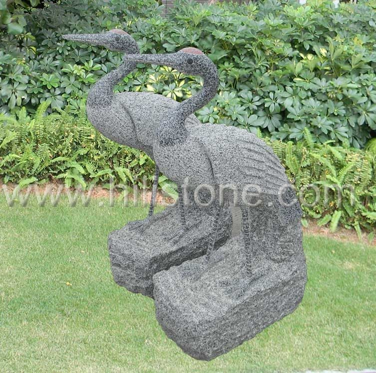 Stone Animal Sculpture Crane 3