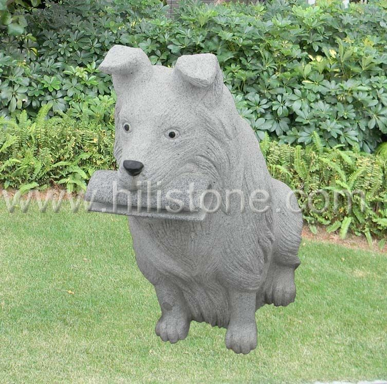 Stone Animal Sculpture Dog 1