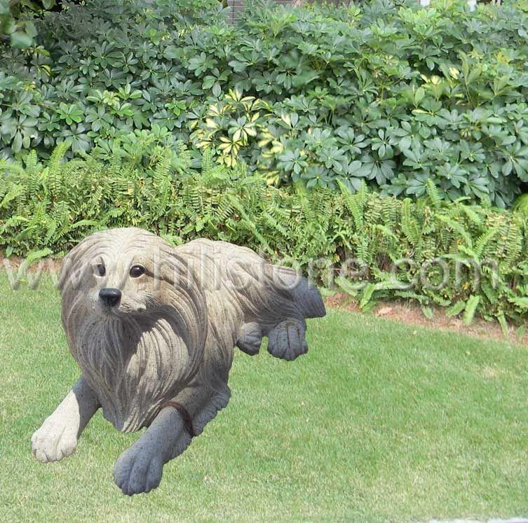 Stone Animal Sculpture Dog 12