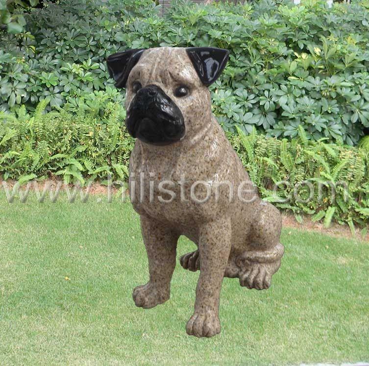 Stone Animal Sculpture Dog 13