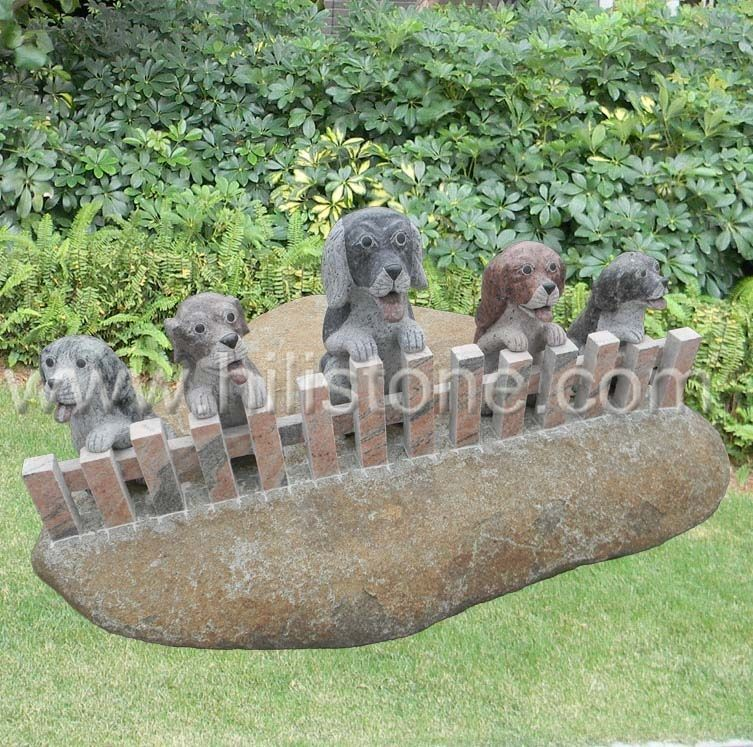 Stone Animal Sculpture Dog 15