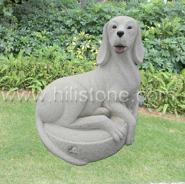 Stone Animal Sculpture Dog 16
