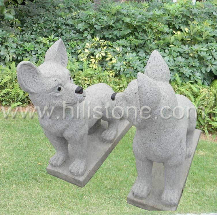 Stone Animal Sculpture Dog 19