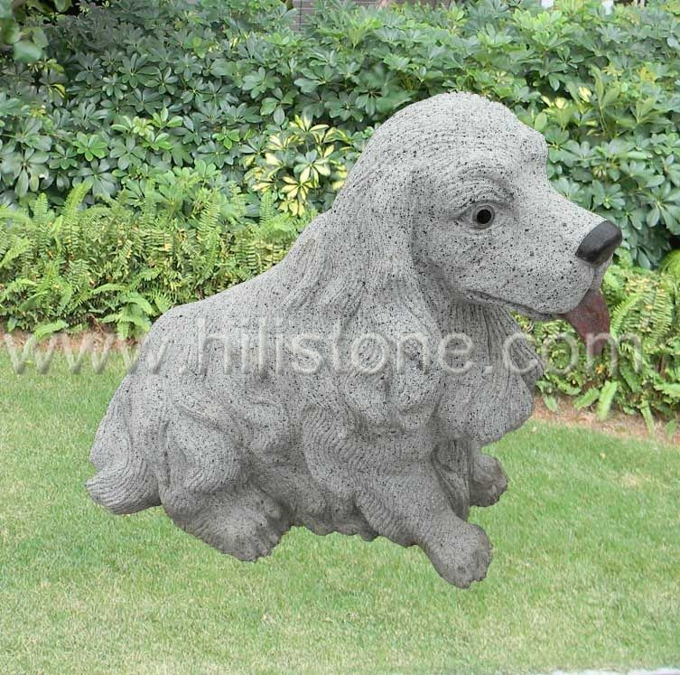 Stone Animal Sculpture Dog 2