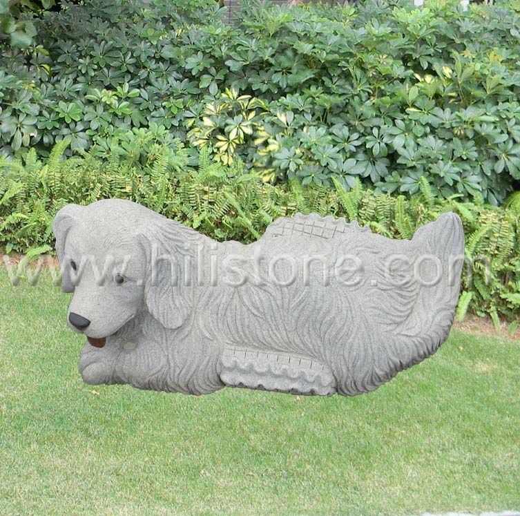 Stone Animal Sculpture Dog 5