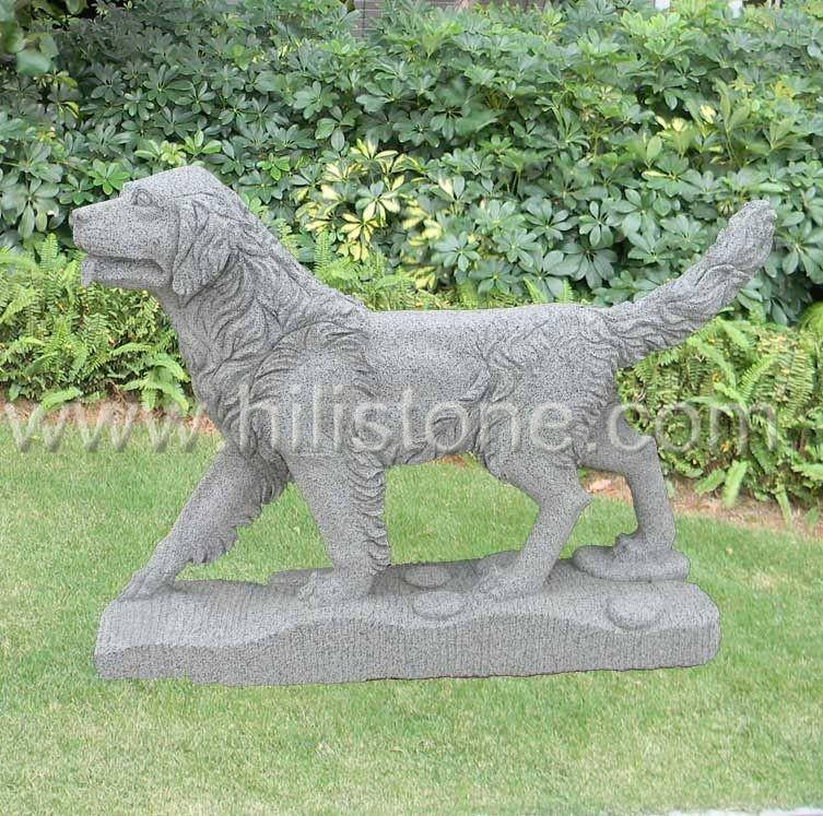 Stone Animal Sculpture Dog 7