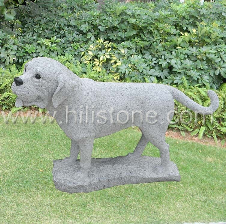 Stone Animal Sculpture Dog 9