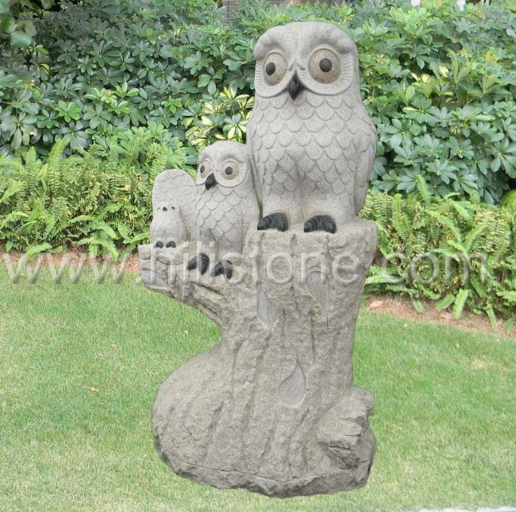 Stone Animal Sculpture Owl 3