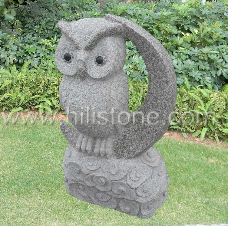 Stone Animal Sculpture Owl 4