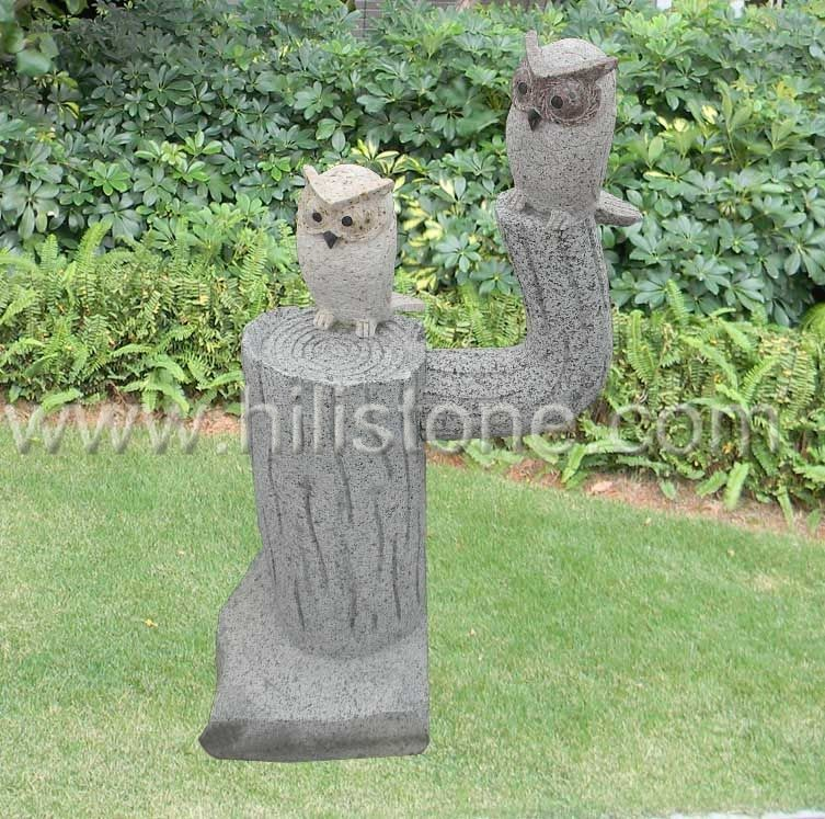 Stone Animal Sculpture Owl 5