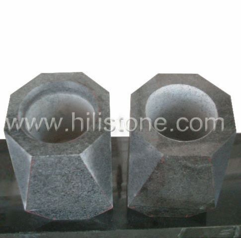 Dark Grey Granite Monument Vases