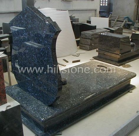 Tombstone Set TM48 Blue Pearl tombstone