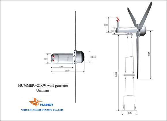 Hummer 20KW Wind Turbine For Household