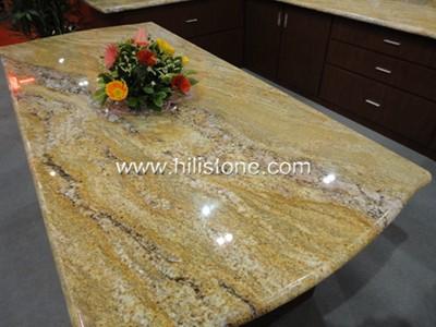 Golden King Granite Countertop - Polished Bullnose