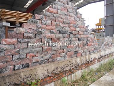 China Multicolor Red Granite Wall Stone