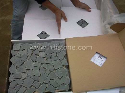 Basalt Mosaic Tile MS23 Interlock tumbled