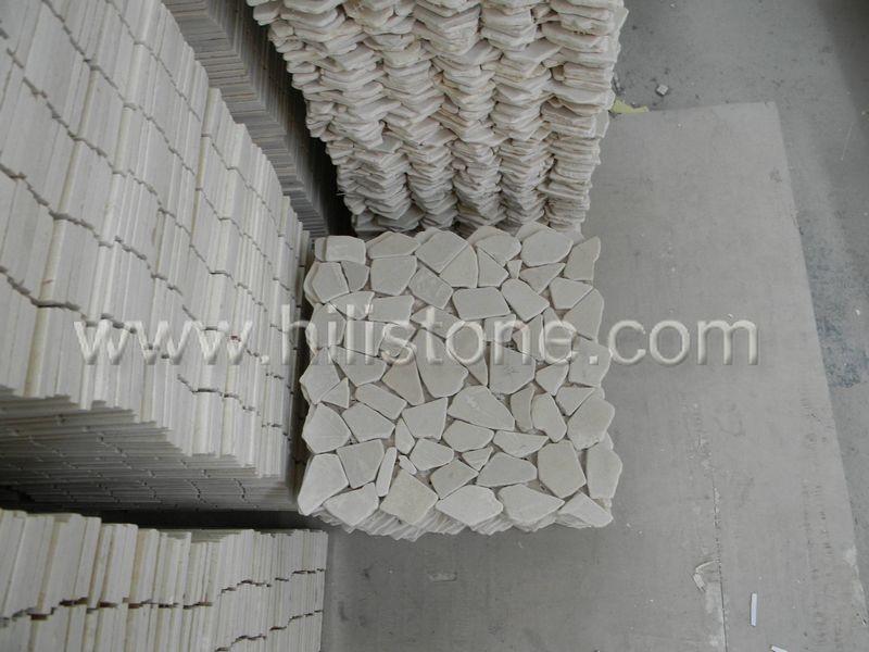 Marble Mosaic Tile MS21 Interlock tumbled