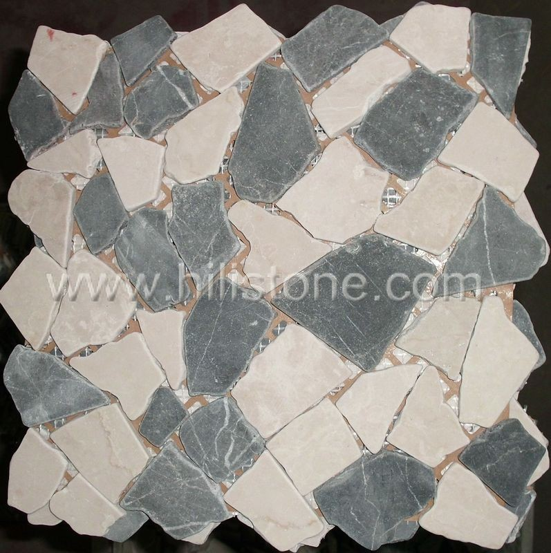 Marble Mosaic Tile MS22 Interlock tumbled
