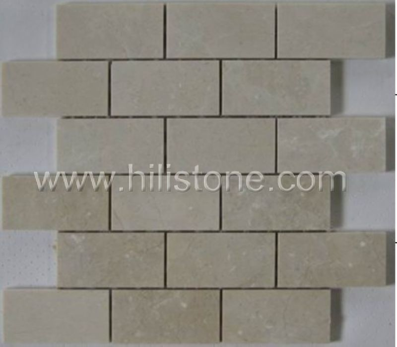 Marble Mosaic Tile MS3 Honed brickbone