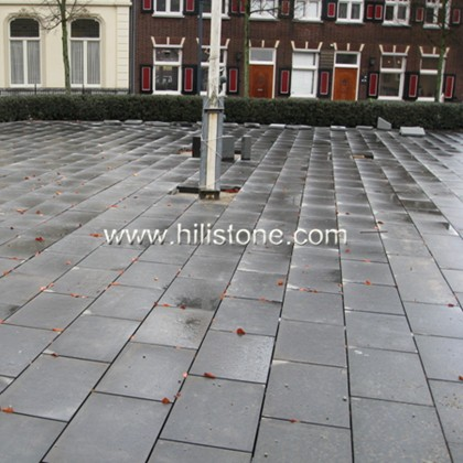 G654 Blue Black Granite Flamed Paving Stone
