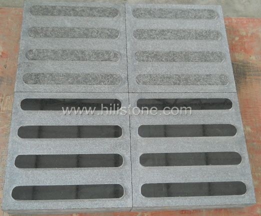 G684 Black Polished Tactile Paving-Directinal