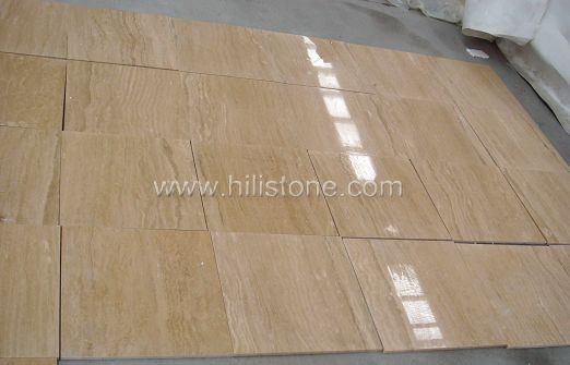 Beige Travertine Polished Tiles