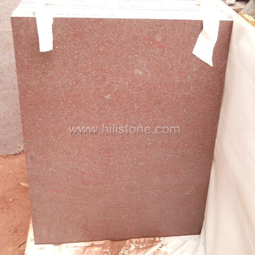 Red Porphyry Honed Tiles