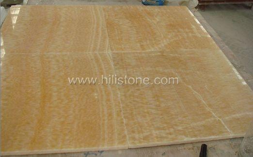 Yellow Onyx Polished Tiles