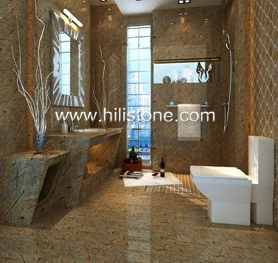 Tropical Rainforest Brown Marble Polished Tiles