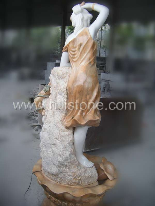 Stone Figure carving Angel Fountain