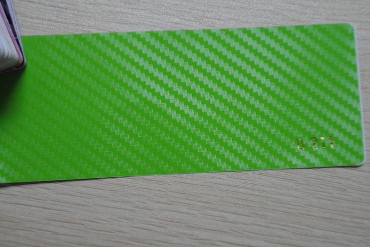3D Carbon fiber film green color