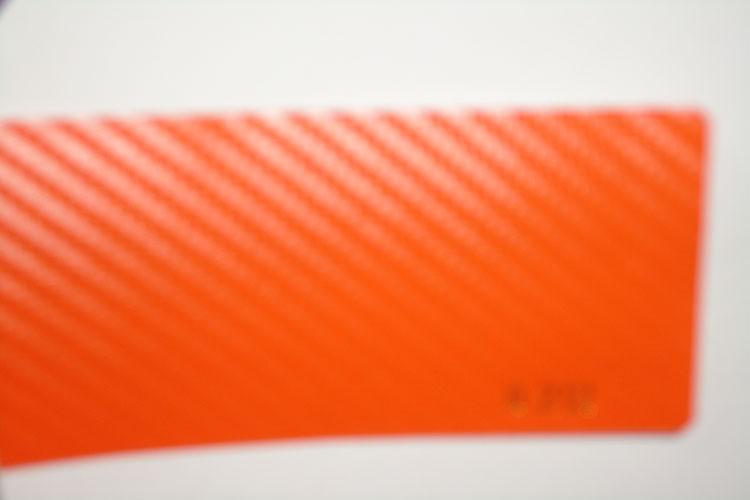 3D Carbon fiber film orange color