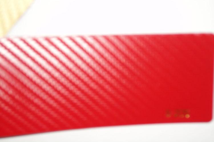 3D Carbon fiber film red color