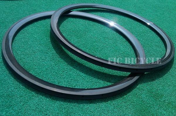 Cyclo-cross carbon 38mm tubular 28h 3k glossy