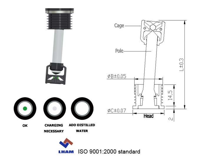 lead acid battery indicator b301 manufacturers lead acid battery indicator b301 exporters lead