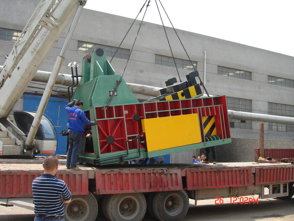 scrap baler machine