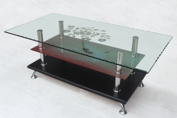 hot sale low price glass coffee table
