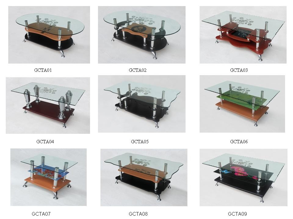 Hot sale low price glass coffee table for Glass tea table price