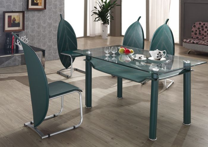L820B 3 Simple Dining Table,Decorative Glass Table