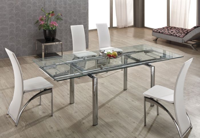 glass extendable dining tableexpention glass dining table : adjustable expension modern dining tables L808A a 1374737999 0 from www.yeskey.com size 700 x 484 jpeg 76kB