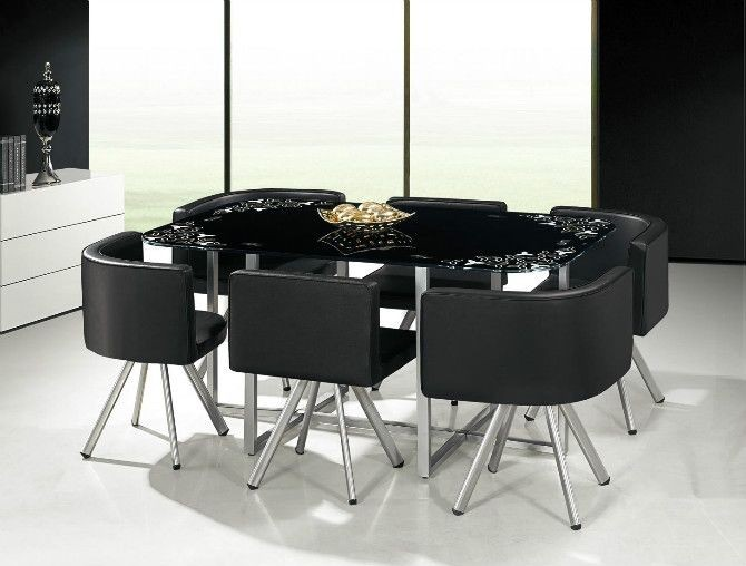 Low Price Glass Dining Table Set 608 With 6 Chairs