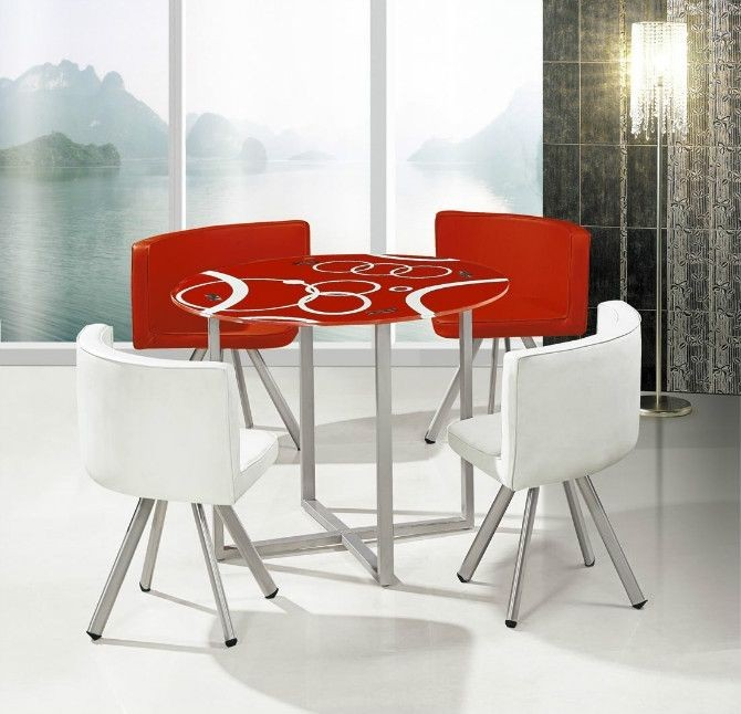 Low Price Glass Dining Table Set B511