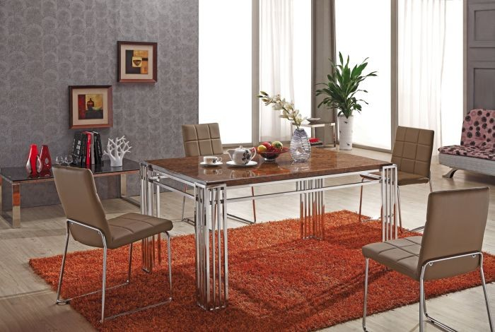 Stainless steel table frame dining table l860
