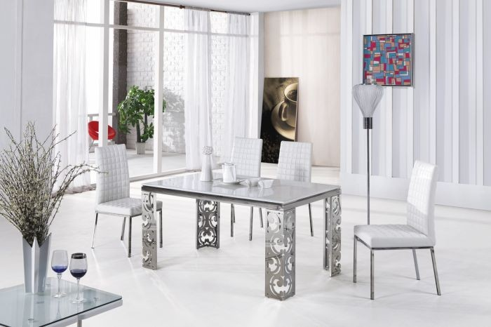 Exceptionnel Stainless Steel Table Frame Dining Table L863