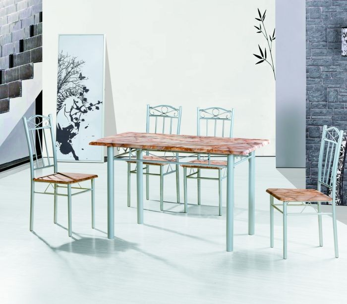 93e64f91659 2013 low price MDF metal dining table set mdt03