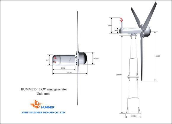 Hummer 10KW Wind Turbine For HouseHold