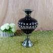 Fashion electroplate vase with decorative diamond