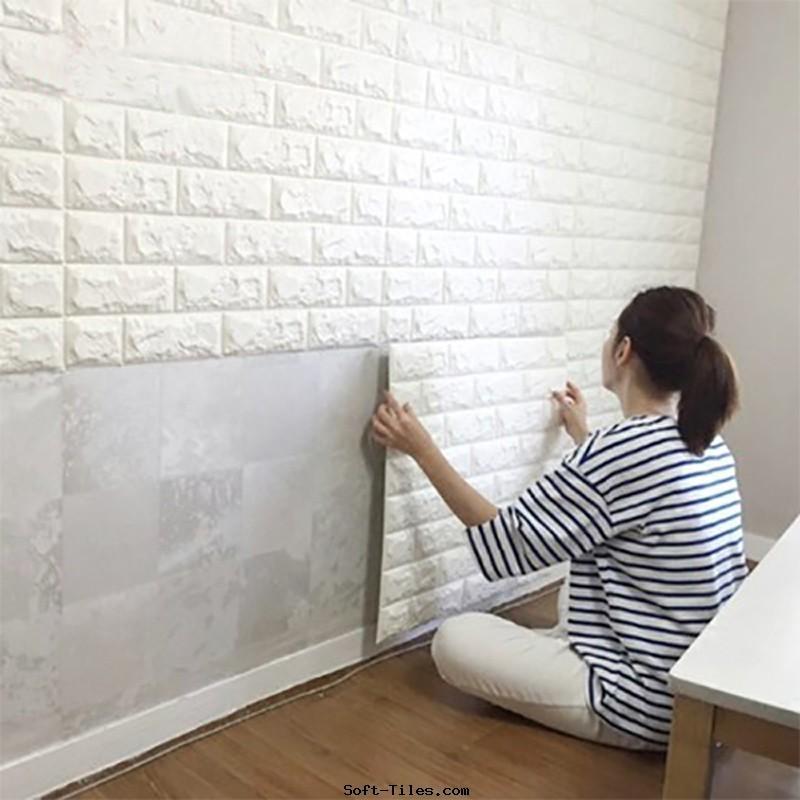 PE Foam 3D Fashion Wall Paper, PE sticker