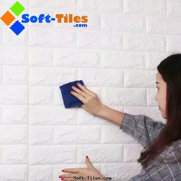PE Foam 3D wall brick