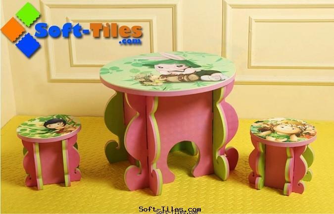 EVA DIY study table & chair Eco-friendly,Non-Toxic